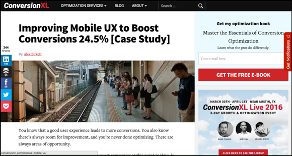 Mobile UX Split Test Case Study