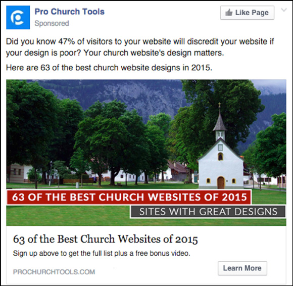 Pro Church Tools Website Design