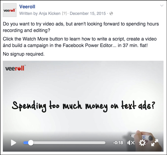 Veeroll Video Ad