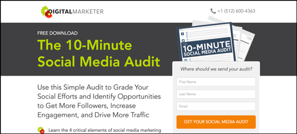 10-Minute Social Media Audit Landing Page