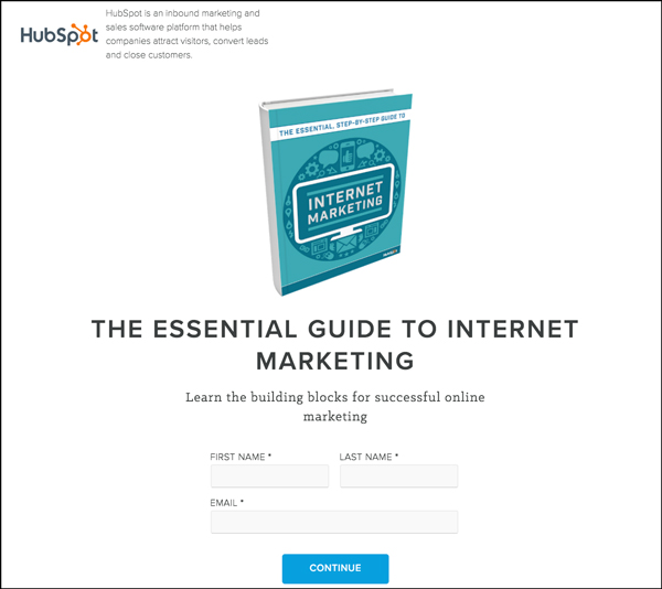 Free guide Lead Magnet opt-in from HubSpot