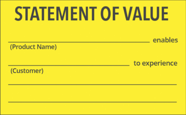 The first step toward launching a successful business for Values statement template