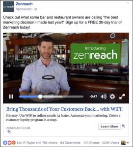 Zenreach Facebook Ad