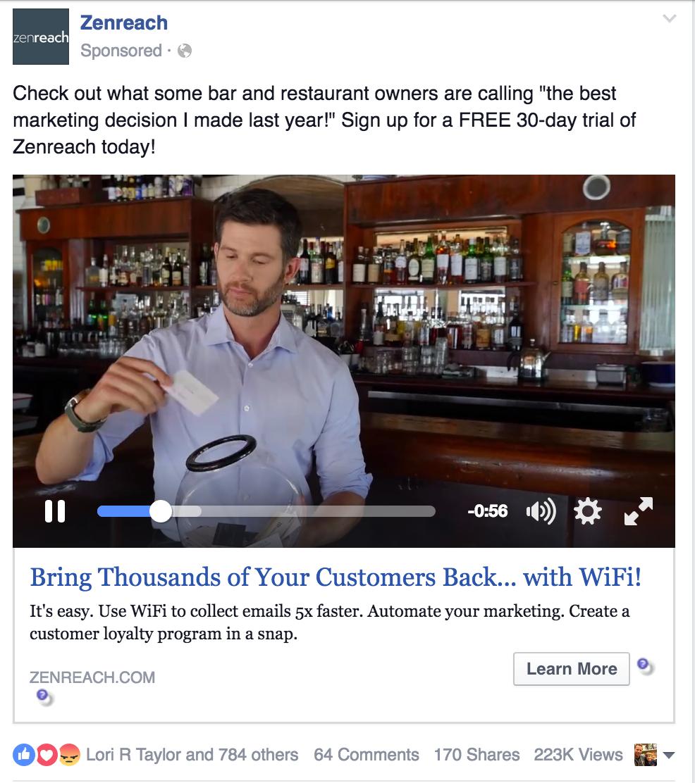 Zenreach awesome video ad