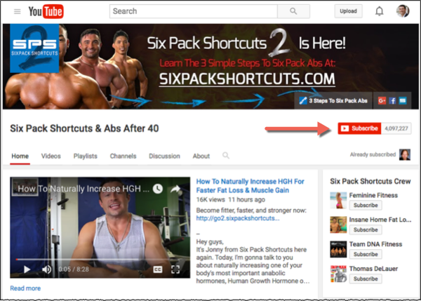 Six Pack Shortcuts on YouTube