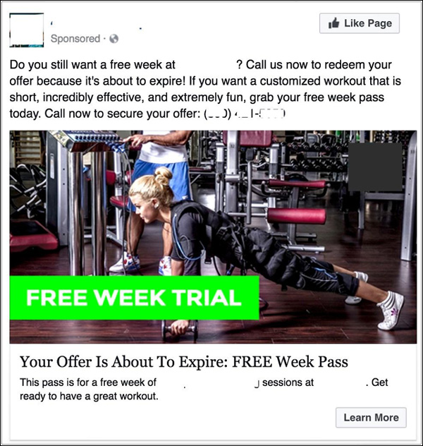 Retargeting Facebook Ad