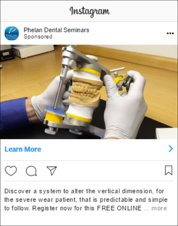 Phelan Dental Paid Instagram Ad #2