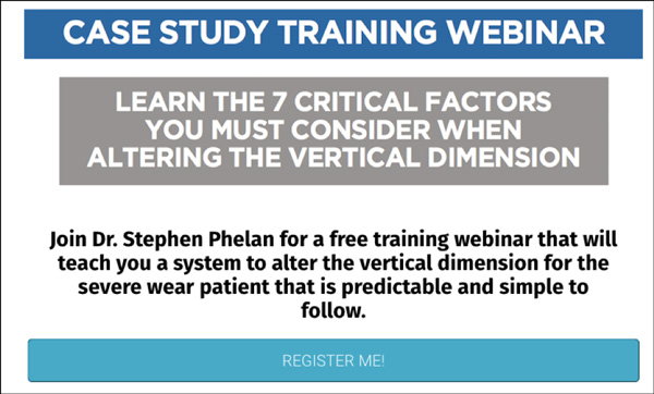 Phelan Dental Training Webinar Landing Page