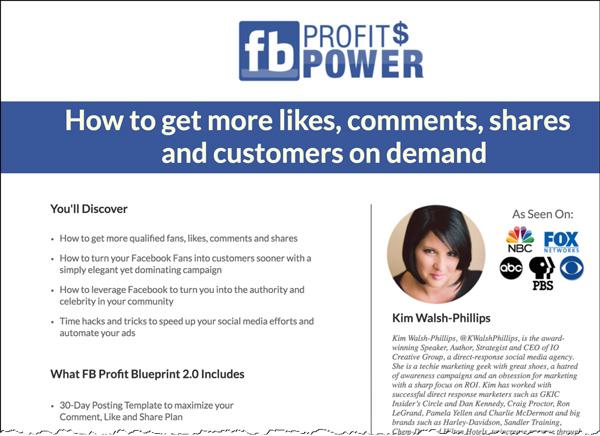 Facebook Profit Power Course Landing Page