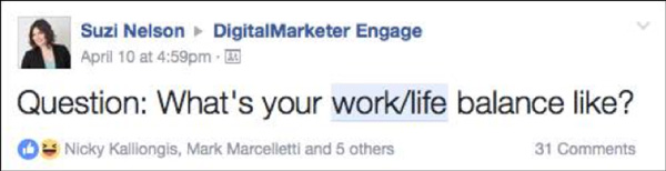 A community content example for DigitalMarketer Engage