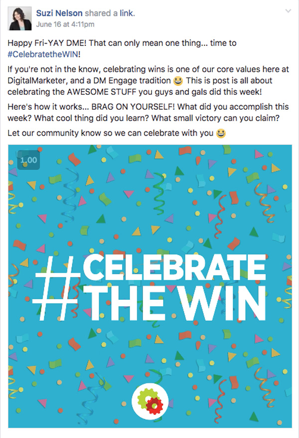 DigitalMarketer Engage Celebrate the Win Post