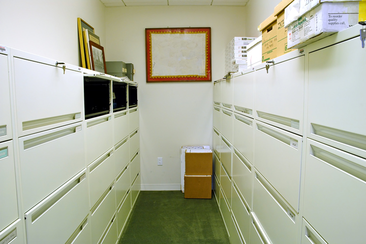 A small filing room
