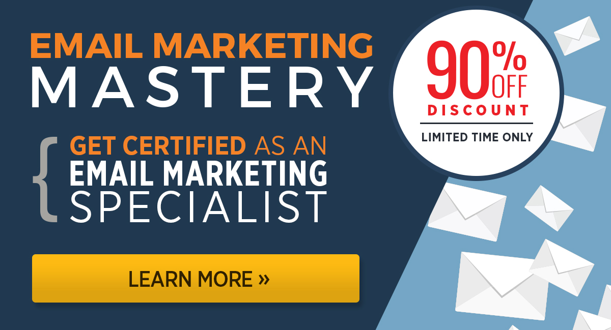 DigitalMarketer Email Marketing Mastery Certificate 90% off for a limited time