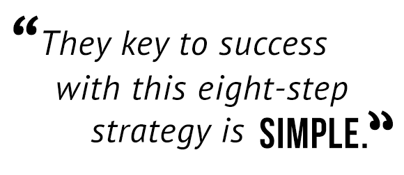 """The key to success with this eight-step strategy is simple."""