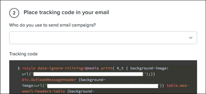 Add an HTML snippet to your email template