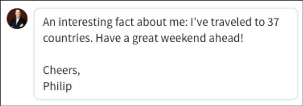A LinkedIn response
