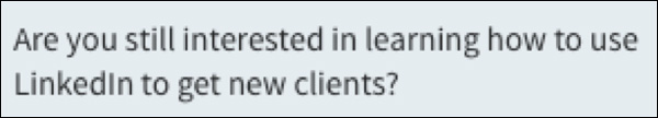 Example of a personalized LinkedIn message