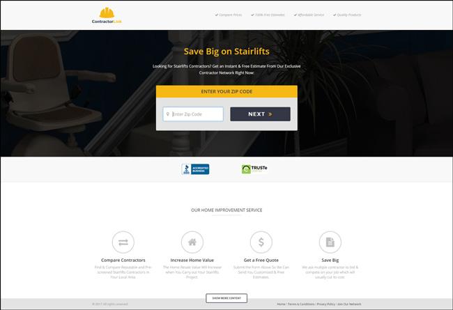 ContractorLink Landing Page
