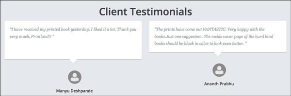 Printland client testimonials