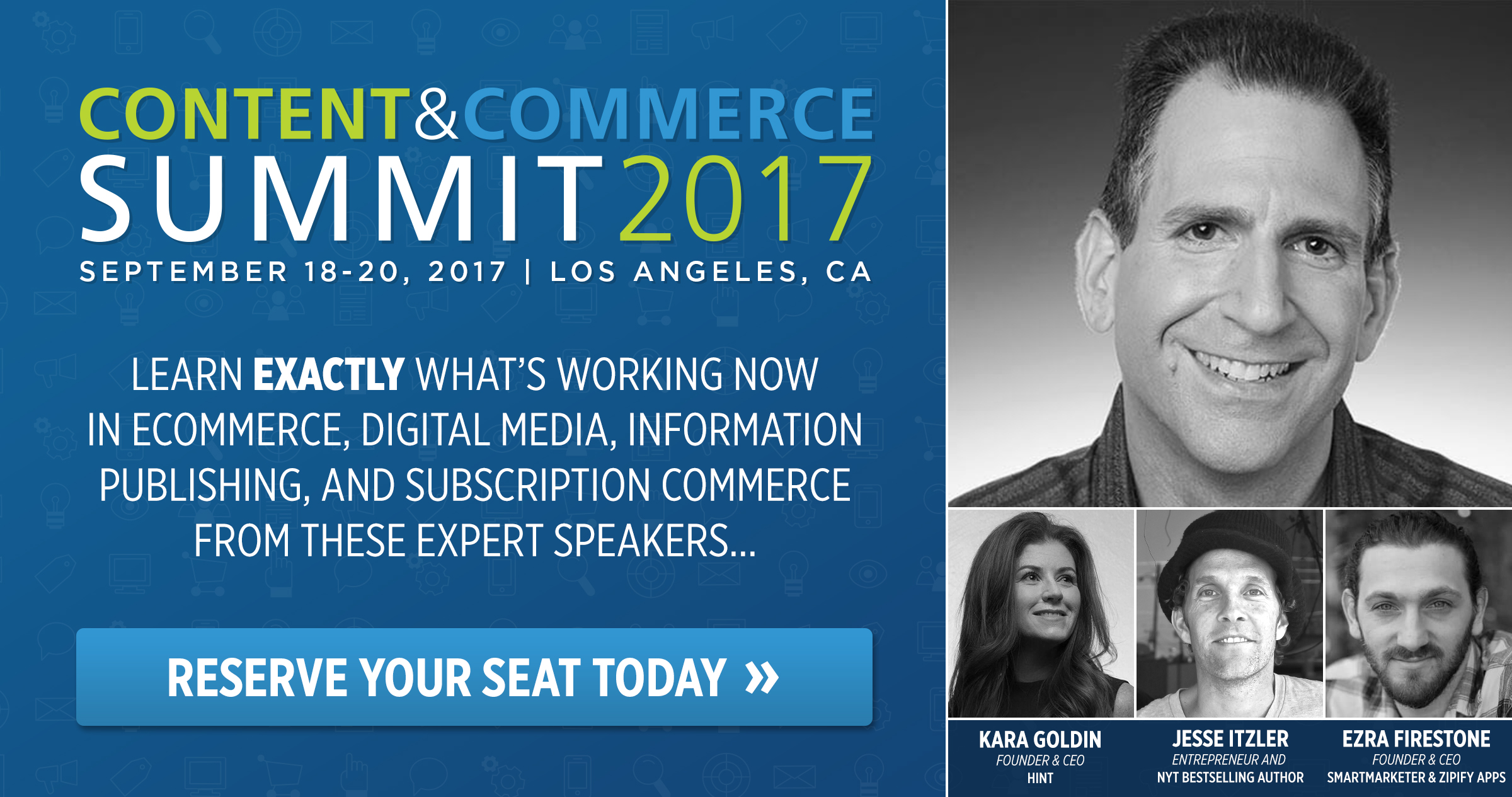 Reserve your seat at Content & Commerce 2017 today to see Bryan Eisenberg and other content and ecommerce experts speak live.