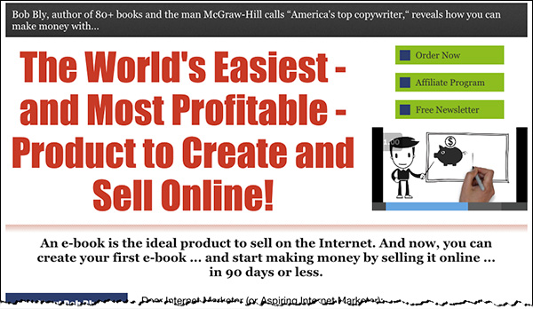 An example of a sales page the effectively weaves a core idea throughout.
