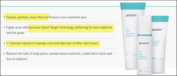 Proactiv backing up their Promise with Facts.