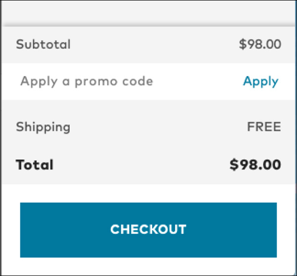 Bonobos points out their free shipping during the checkout step