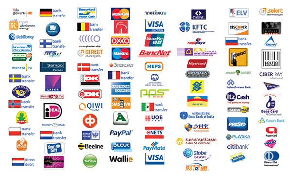 The many, many different payment options