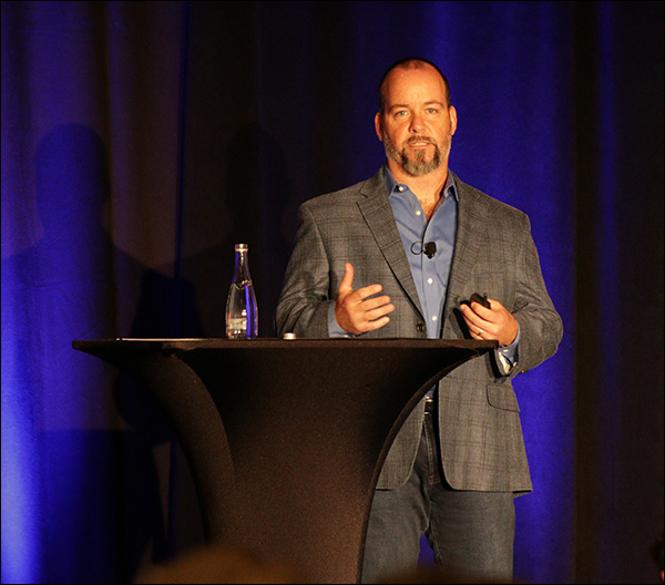 Ralph Burns giving his presentation at Content & Commerce Summit 2017