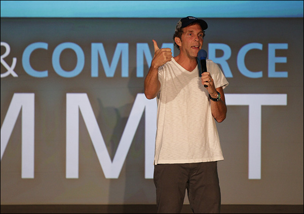 Jesse Itzler during his keynote at Content & Commerce Summit 2017