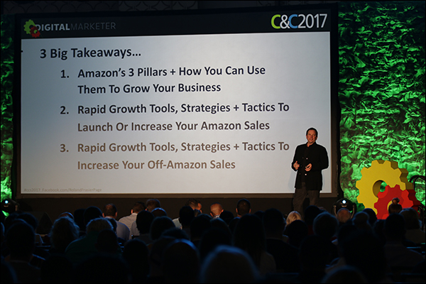 Roland Frasier using Amazon as an example during his 2017 keynote at Content & Commerce Summit