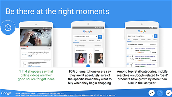 Being there at the right moment — Brett Curry slide from his 2017 Content & Commerce Summit presentation