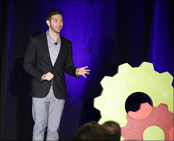 Ryan Moran during his presentation at Content & Commerce Summit 2017