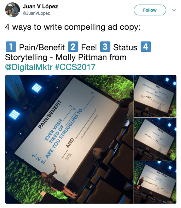 Content & Commerce Summit 2017 attendee sharing about his experience and big takeaway from the event