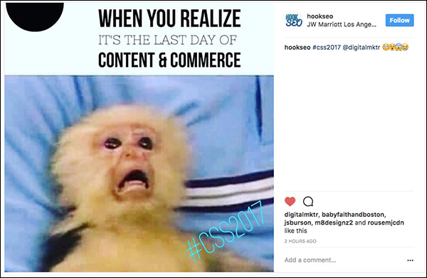 Content & Commerce Summit 2017 social share