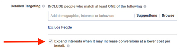 Where to check Facebook Targeting Expansion