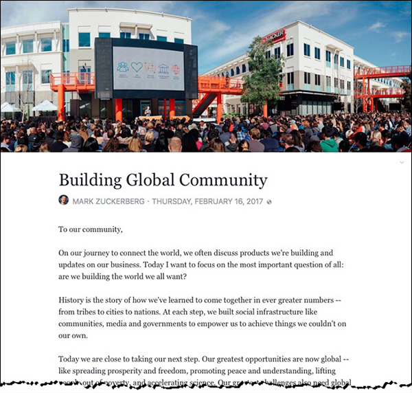 Mark Zuckerberg: Building Global Community
