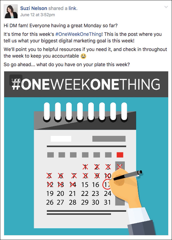 DigitalMarketer Engage One Week One Thing