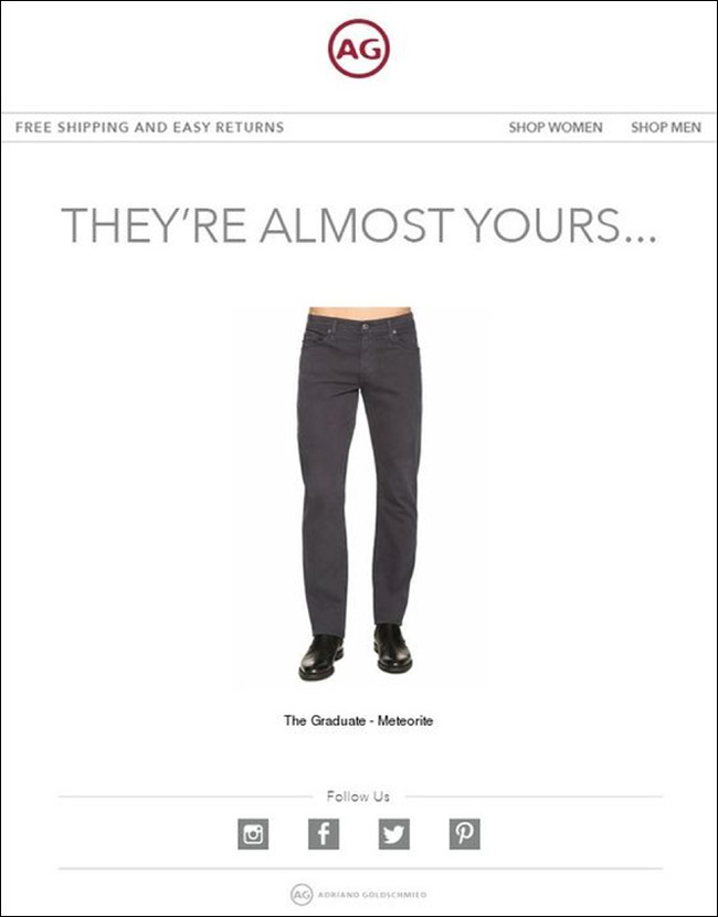 AG Jeans Behavioral Email