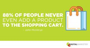 88% of people never even add a product to the shopping cart. ~John McIntrye