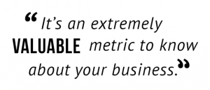 """It's an extremely valuable metric to know about your business."""