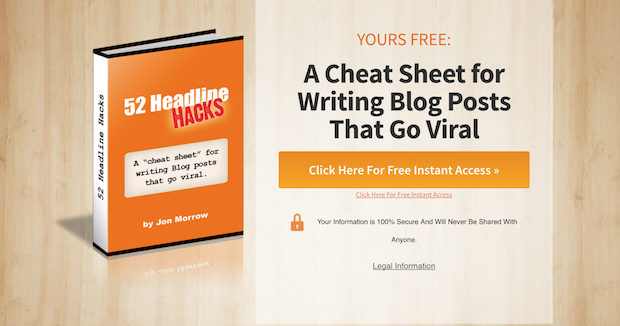 A cheat sheet for writing blog posts Lead Magnet