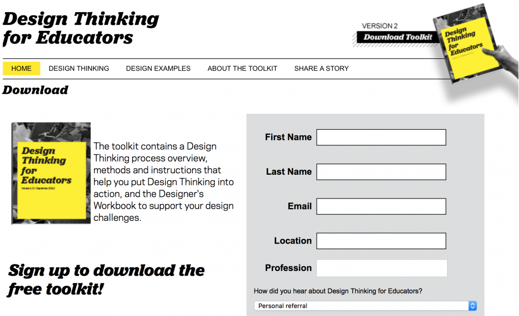Toolkit Lead Magnet from Design Thinking for Educators