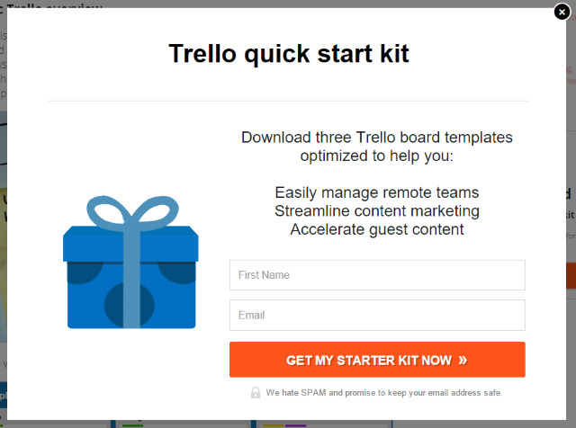 Trello starter kit Lead Magnet