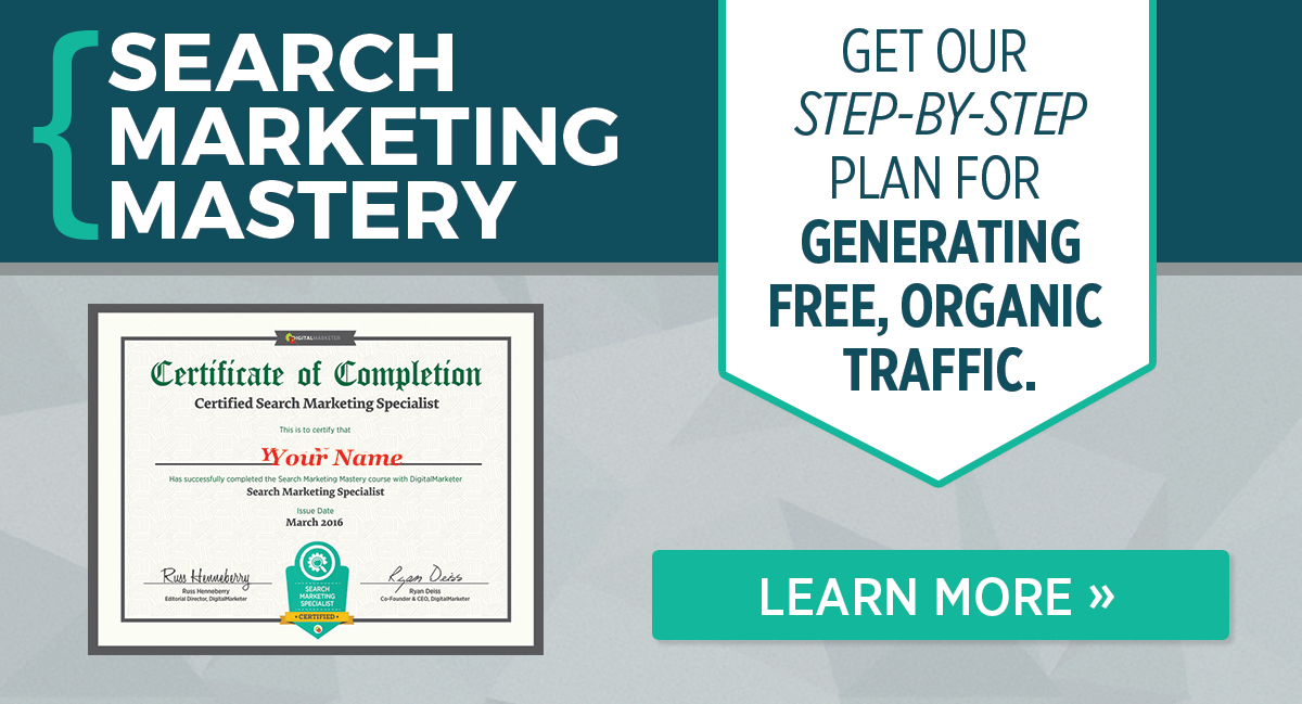 Get certified as a Search Marketing Specialist.