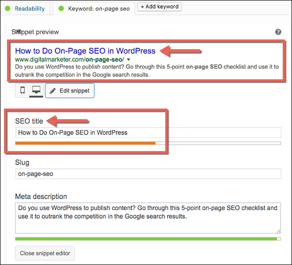 Optimizing the title tag in WordPress using the Yoast plug-in