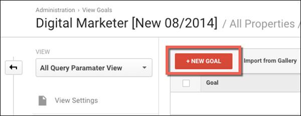 Click Create a New Goal