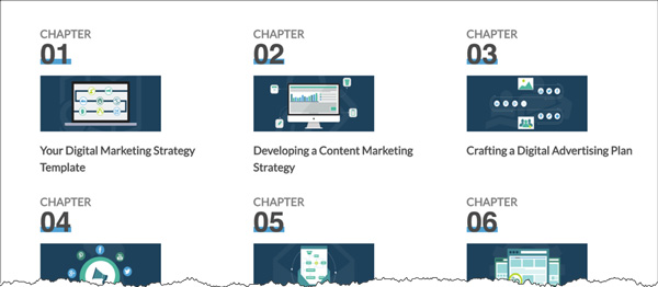 The chapters of The Beginner's Guide to Digital Marketing