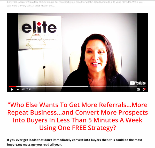 Offer for a free trial of Powerful Professionals membership