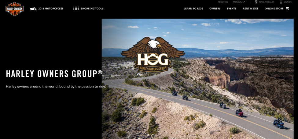 Harley Owners Group home page